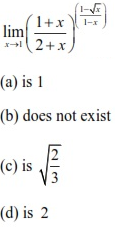 WBJEE Limits Question 2