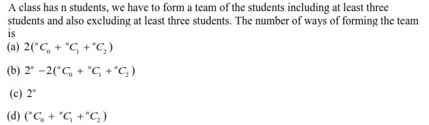 WBJEE Permutation and Combination question 2