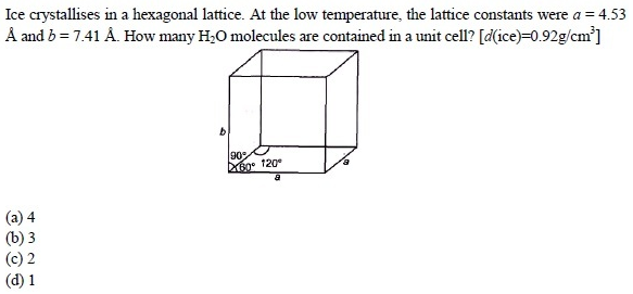 WBJEE Solid State question 4