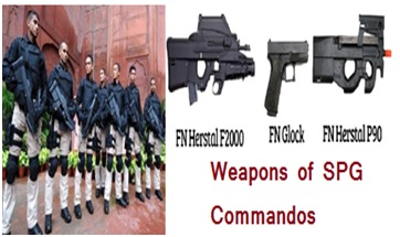 Weapons of SPG Commandos