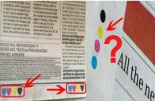 What does four colour dots in newspaper mean