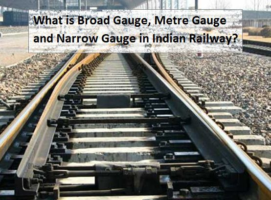 What are Broad Gauge, Metre Gauge and Narrow Gauge in Indian Railway?