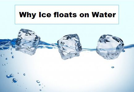 Why Ice floats on Water