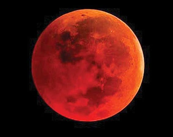 Why moon appears red in colour
