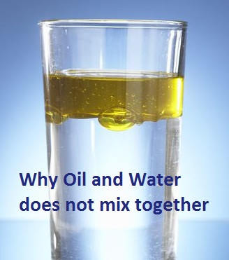 Why oil and water doest not mix together