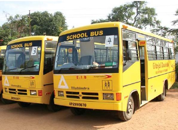 Why are school buses yellow in colour?
