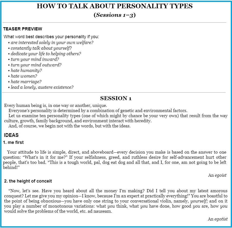 """A page from """"Word Power Made Easy"""""""