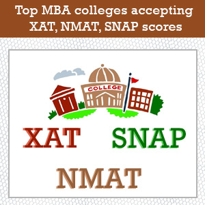 Top MBA colleges accepting XAT, NMAT, SNAP scores