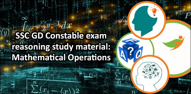 SSC GD mathematical operations
