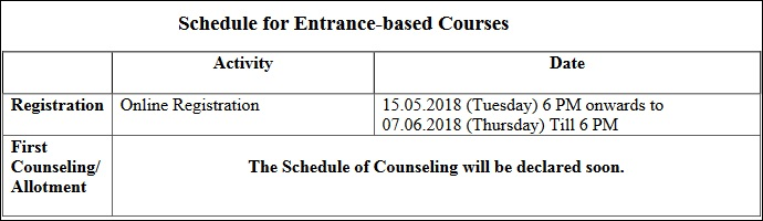 DU Entrance Test Schedule 2018