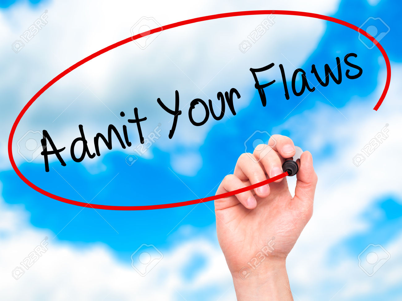 Admit your flaws