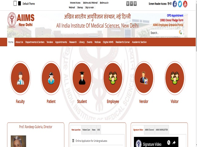 AIIMS Delhi SRF, Medical Officer and Research Associate Posts 2019