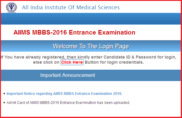 aiims mbbs result 2016