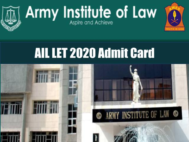 AIL LET 2020 Admit Card