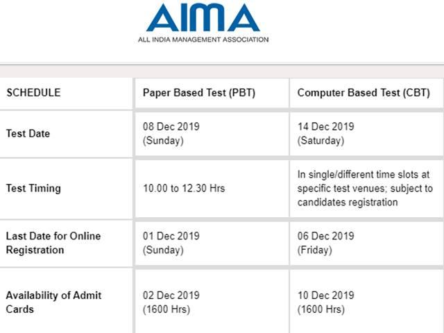 Mat 2019 December Exam Dates Announced Apply For Mba