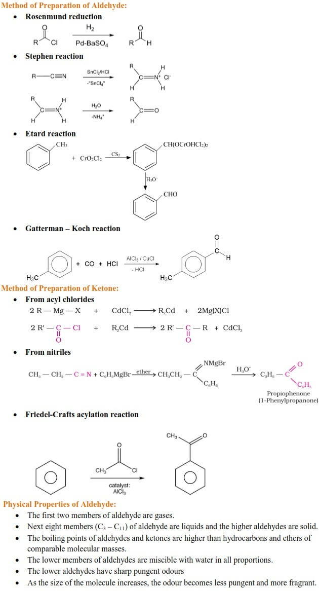 Aldehydes, Ketones and Carboxylic Acid