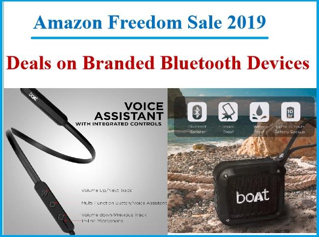 Bluetooth Headphones Earphones On Amazing Offer At Amazon Freedom Sale 2019
