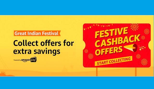 Amazon Great Indian Festival Sale 2019 Offers: Festive Cashback Offers