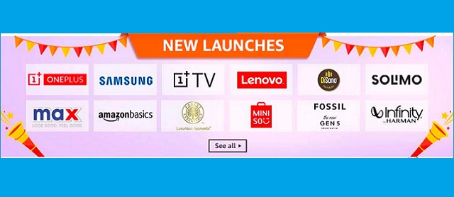Amazon Great Indian Festival Sale 2019 Offers: New Launches