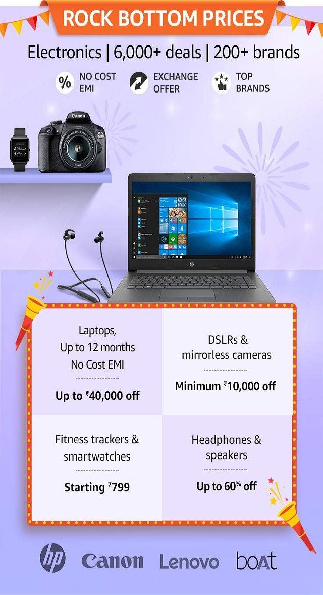 Amazon Great Indian Festival Sale 2019: Offer
