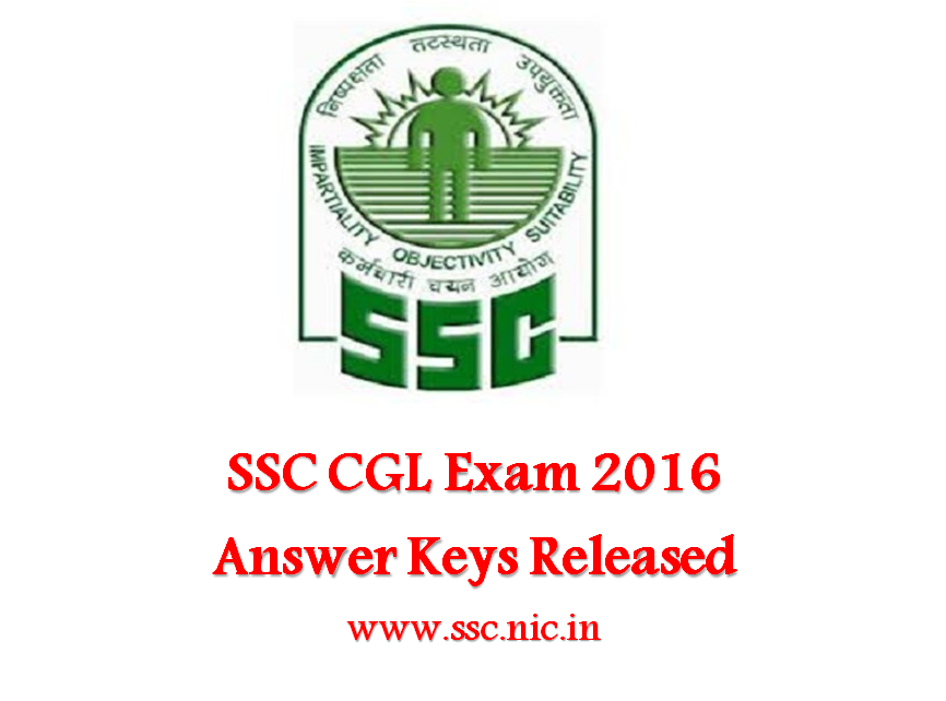 SSC CGL answer keys, response sheet 2016 released, check ssc