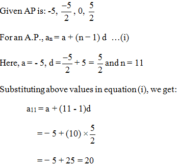 Arithmetic Progressions NCERT Exemplar Problems, NCERT Exemplar Problems