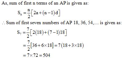 Arithmetic Progressions NCERT Exemplar