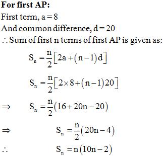 Arithmetic Progressions Important Questions