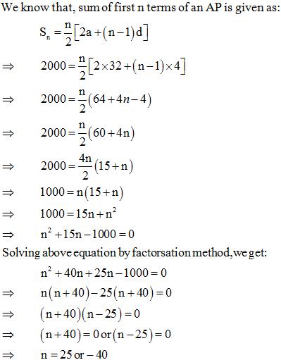 Arithmetic Progressions NCERT Exemplar Problems