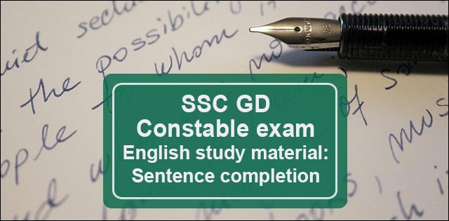 SSC(GD) Constable sentence completion