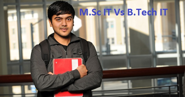 Comparative analysis between M.Sc IT and B.Tech IT