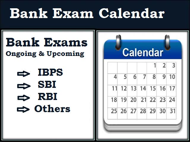 Upcoming Bank Exams 2020