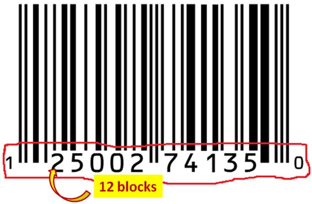 barcode 12 blocks