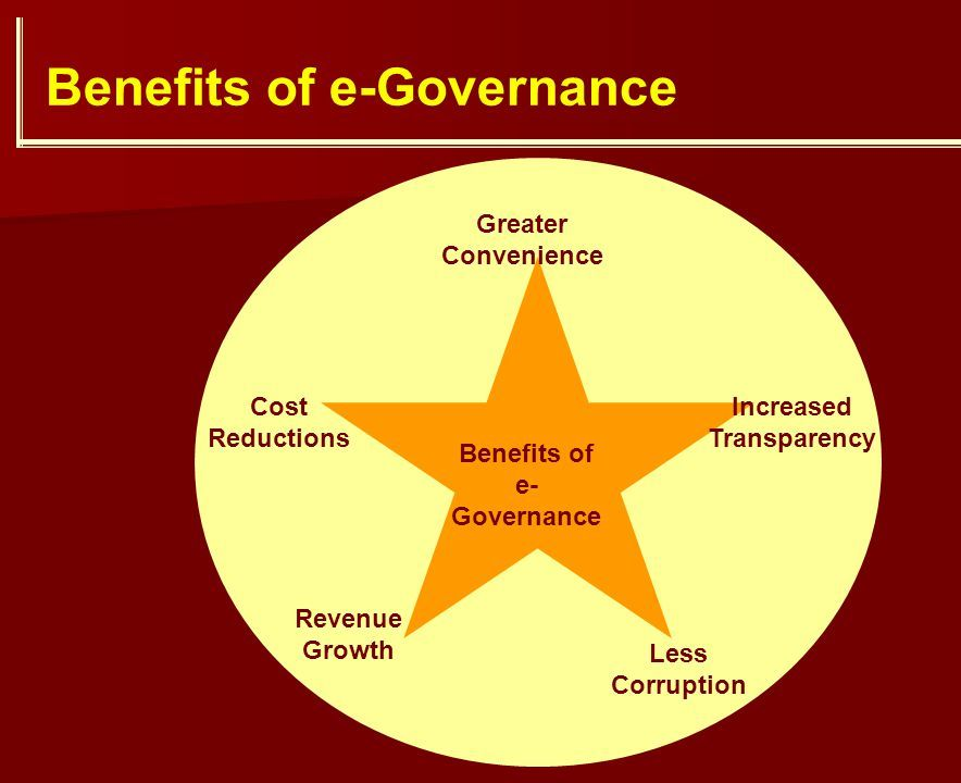 benefits of e governence