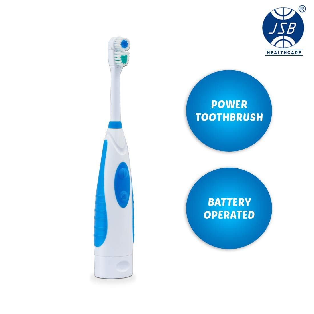 Blue white electric toothbrush