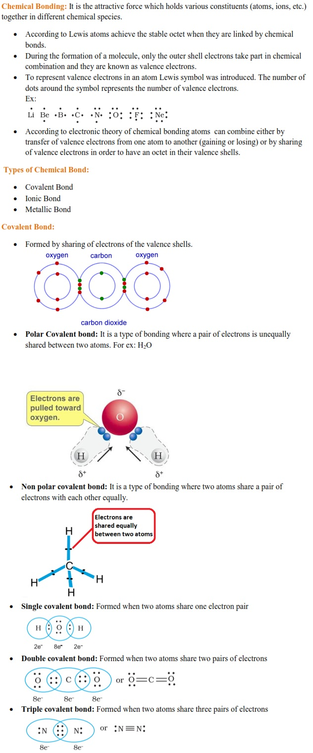 WBJEE Chemical Bonding Concepts 1