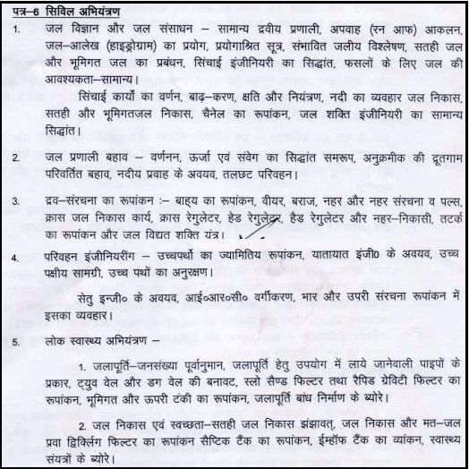 BPSC Syllabus in Hindi