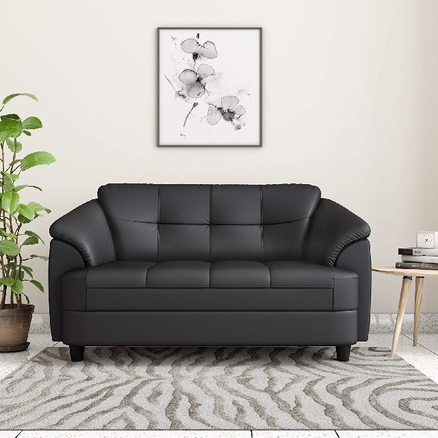 Branded leather sofa