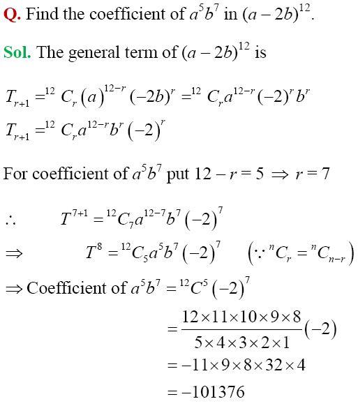 NCERT Solutions for Class 11 Maths Binomial Theorem