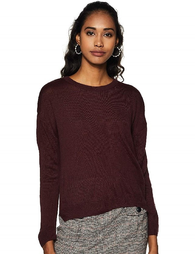 Burgundy bright sweater