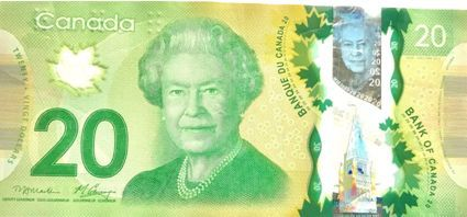 canada currency note