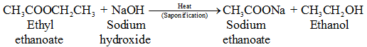 saponificaton reaction equation