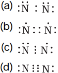 electron dot structure of nitrogen