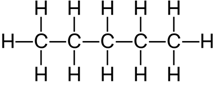 structural formula of pentane