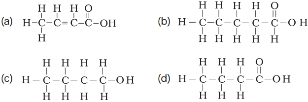 structural formula of butanoic acid