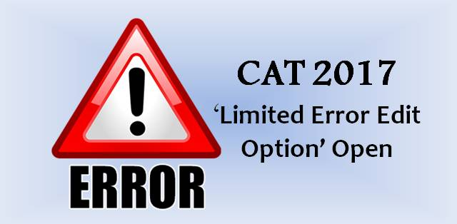 CAT 2017 Application Error Correction