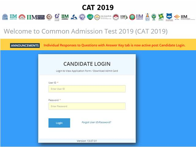 CAT 2019 Candidate Response Sheet, Question Paper Released, Answer Key Expected Shortly, Download at iimcat.ac.in