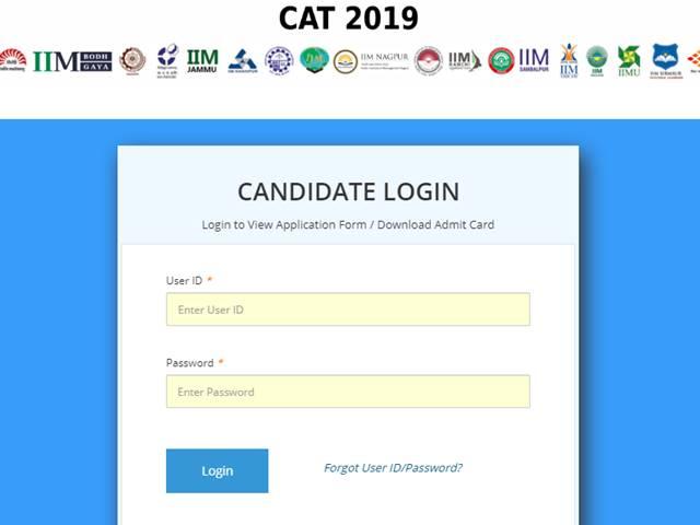 CAT 2019 Admit Card