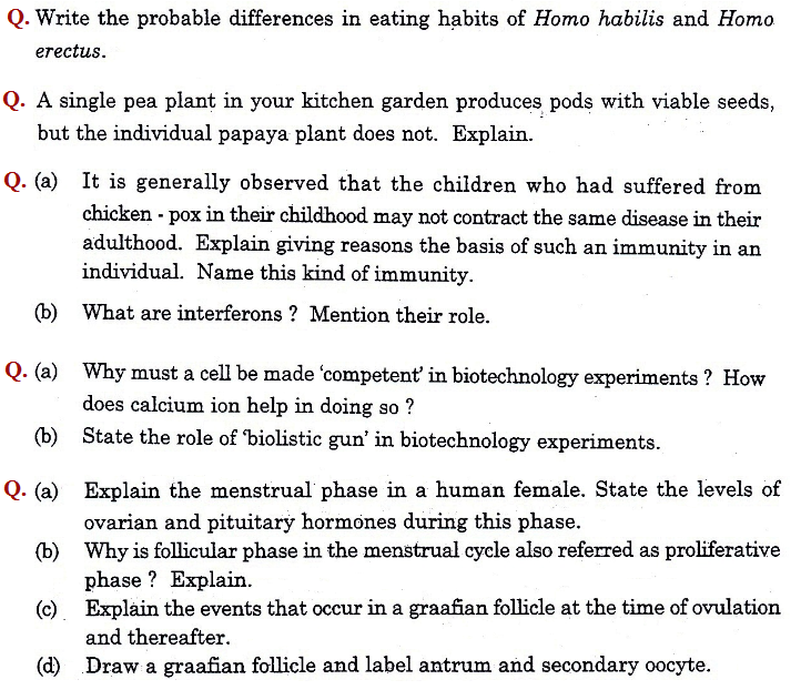 biology practical exam questions