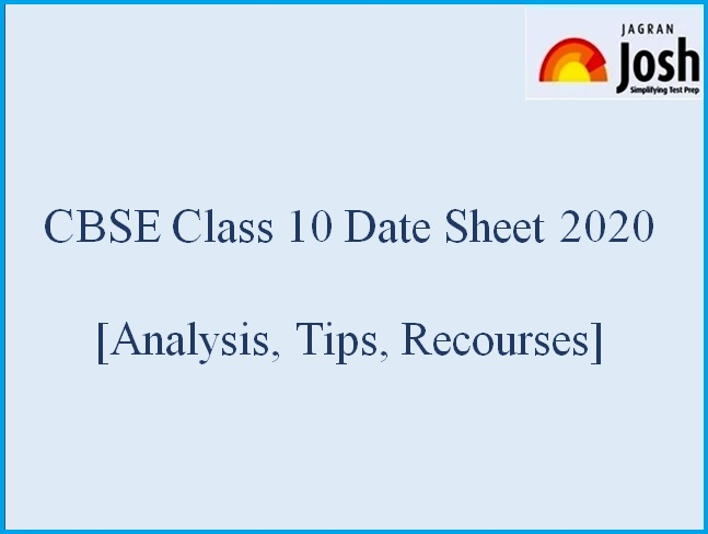 CBSE Class 10 Date Sheet 2020 Analysis